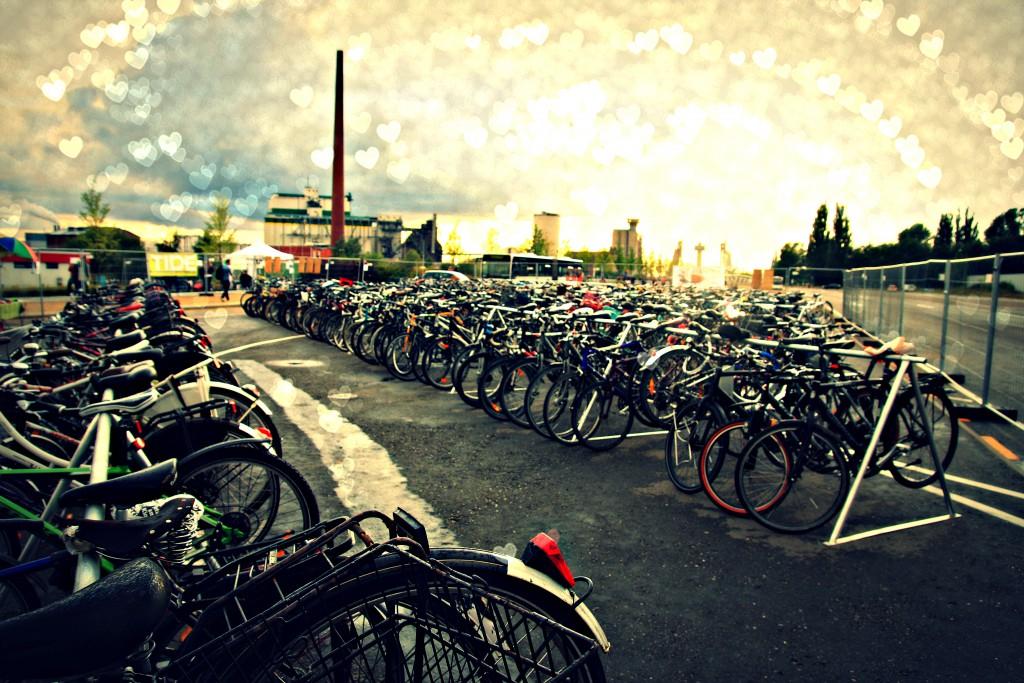 FahrradGarderobe auf dem MS Dockville-Festival-2014