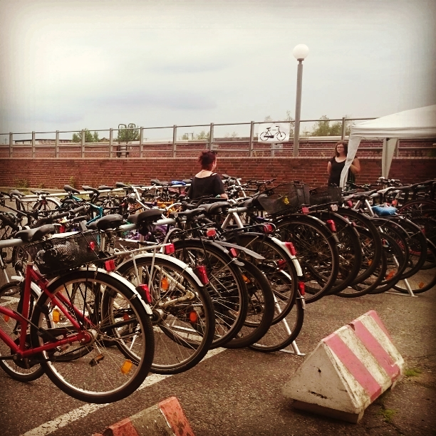 FahrradGarderobe beim Elbriot Festival in Hamburg